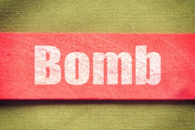 Bombendrohung Konzept